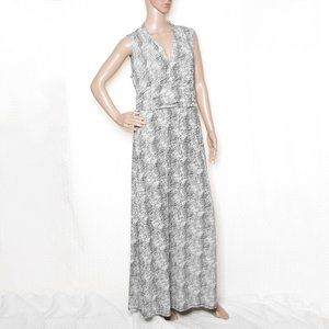 Vince Camuto Black and White Spotted Maxi Dress